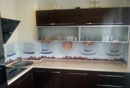 Panel szklany - kawa i filiżanki