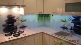 Szkło z grafiką - kamienie i bambus